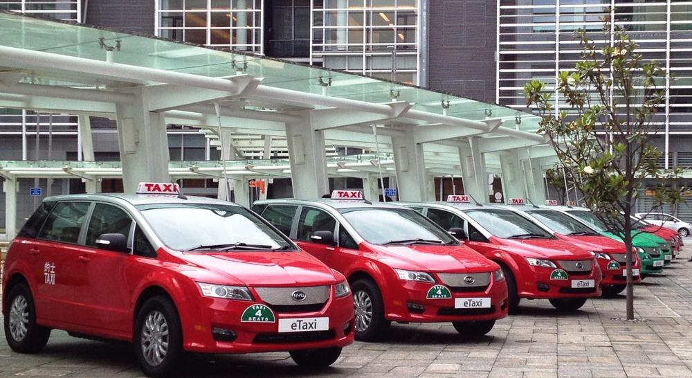 фото электромобили такси БИД