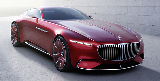 электромобиль фото Vision Mercedes Maybach 6