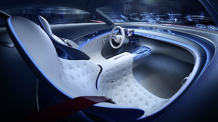 Vision Maybach 6 электромобиль Mercedes официальный