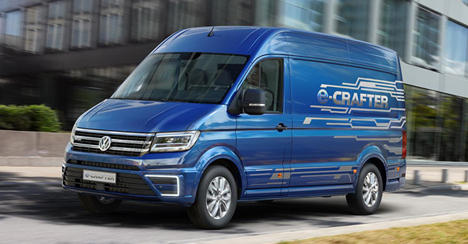Электрический фургон Volkswagen е-Crafter