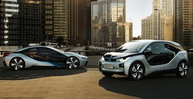 продажа электромобилей BMW i3, BMW i8