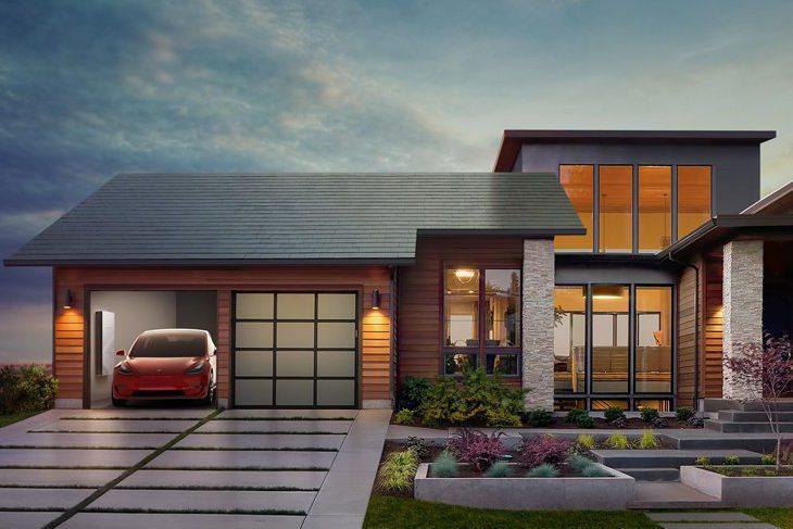 Тесла Моторс солнечные крыши