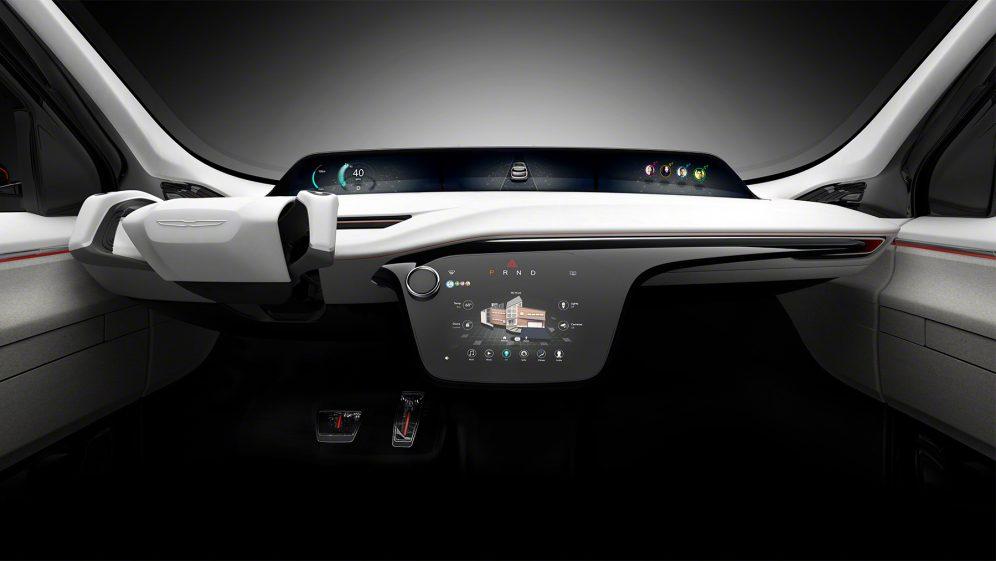 салон концепта электромобиль Chrysler Portal Concept