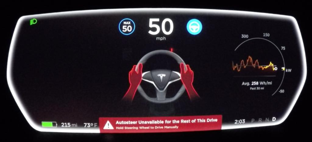 Тесла Model S автопилот