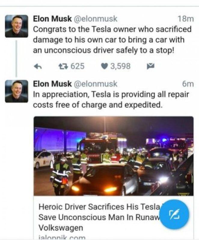 Запись Илона Маска о происшедшем в своем Twitter