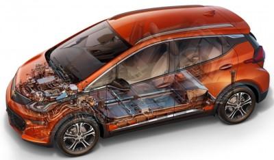 батареи электромобиля Chevy Bolt