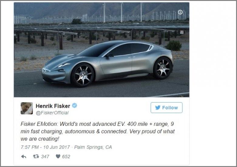 Henrik Fisker twitter