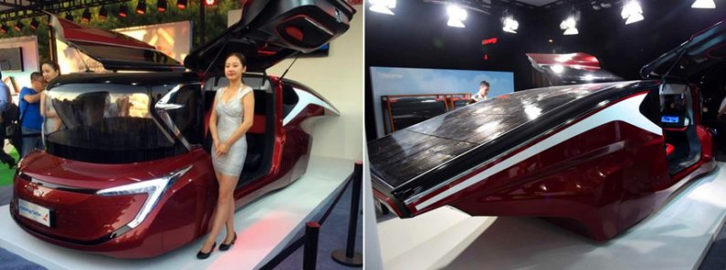 Hanergy - солнечный автомобиль