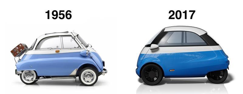ретро электромобиль Microlino