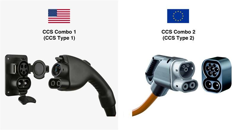 CCS Combo 1 (CCS Type 1) CCS Combo 2 (CCS Type 2)