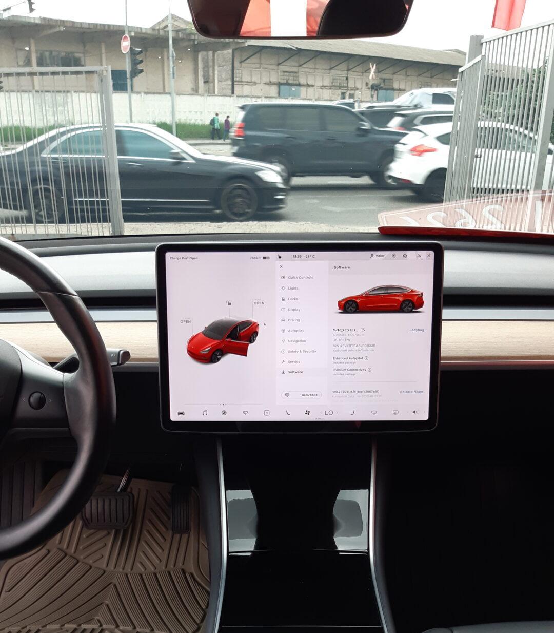 Tesla Model 3 Indoors