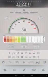 Электромобиль Porsche переобоурдование экран 2