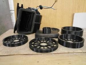 3-д печать деталей для охлаждения электродвигателя 3d printing elmob