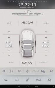 Электромобиль Porsche переобоурдование экран